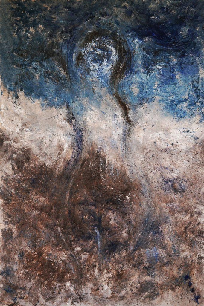 """Mujeres""/ Óleo y arena sobre lienzo/ 100 x 150/ Charo Artadi/ México, 2016"