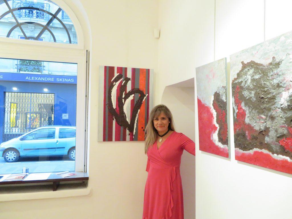 Charo Artadi durante su exposición