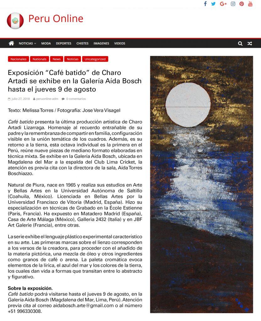"""Publicación diario """"Perú Online"""""""